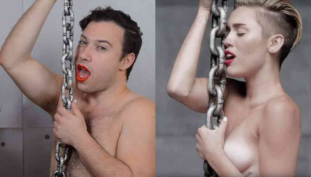 Guy recreates celebrity poses for positive body image music video