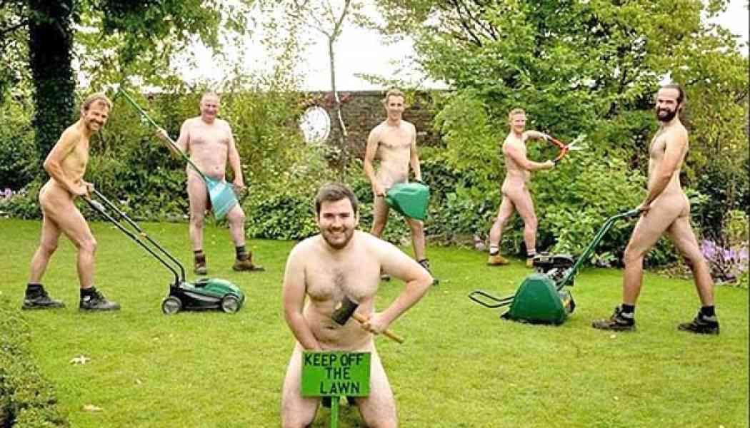 Male naturists from around the world celebrate World Naked Gardening Day